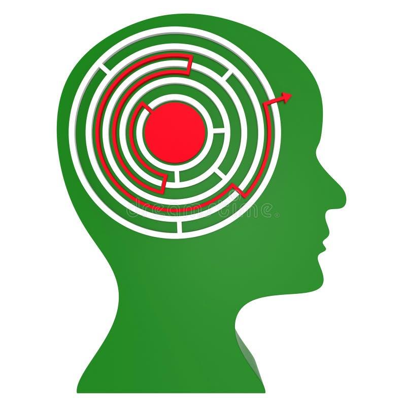 迷宫认为代表难题任务和挑战 向量例证