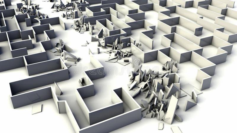 迷宫破坏 向量例证