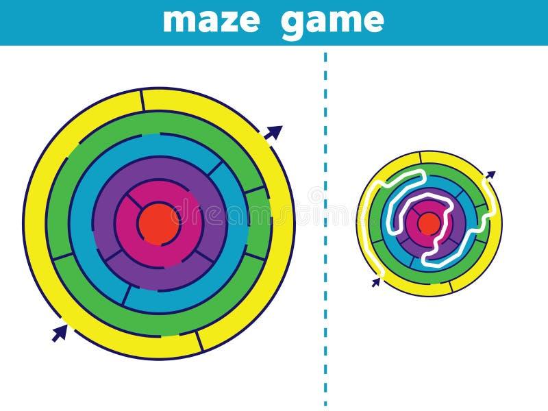 迷宫 孩子传染媒介例证的迷宫比赛 皇族释放例证