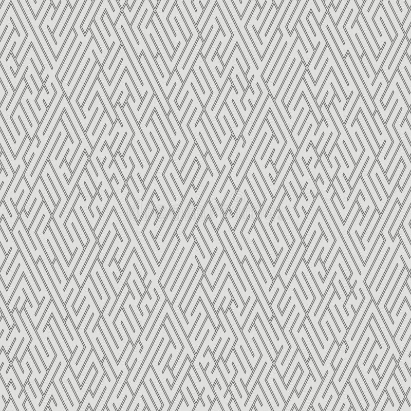 迷宫-无缝的样式 库存例证