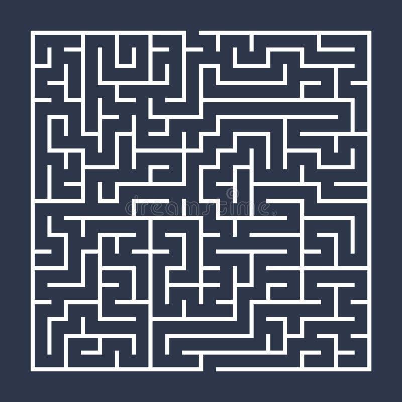 迷宫/迷宫的传染媒介例证 查出在蓝色背景 库存例证