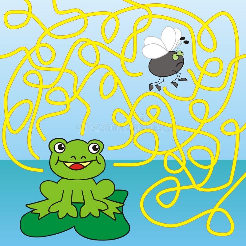 迷宫-青蛙和飞行 皇族释放例证