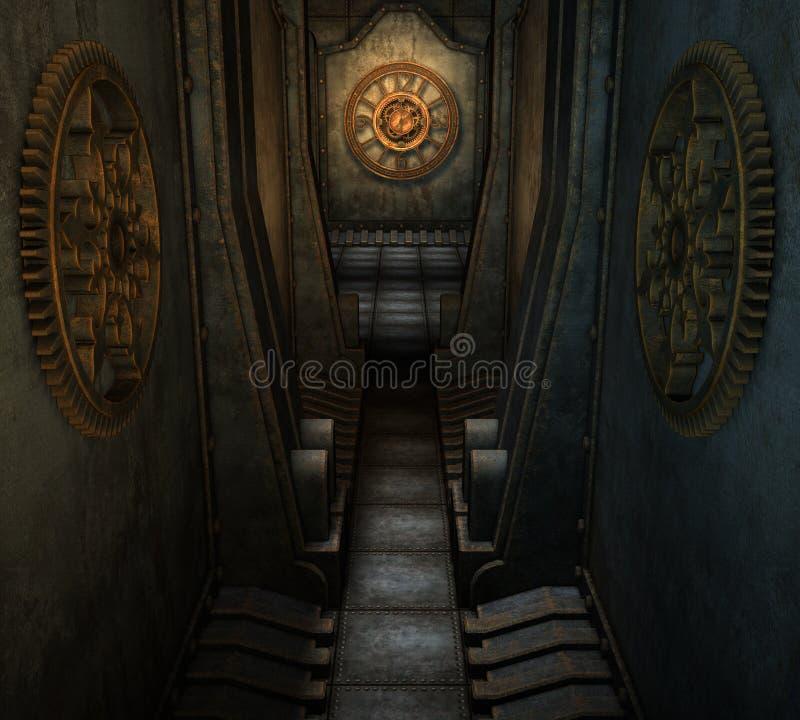 迷宫steampunk 皇族释放例证
