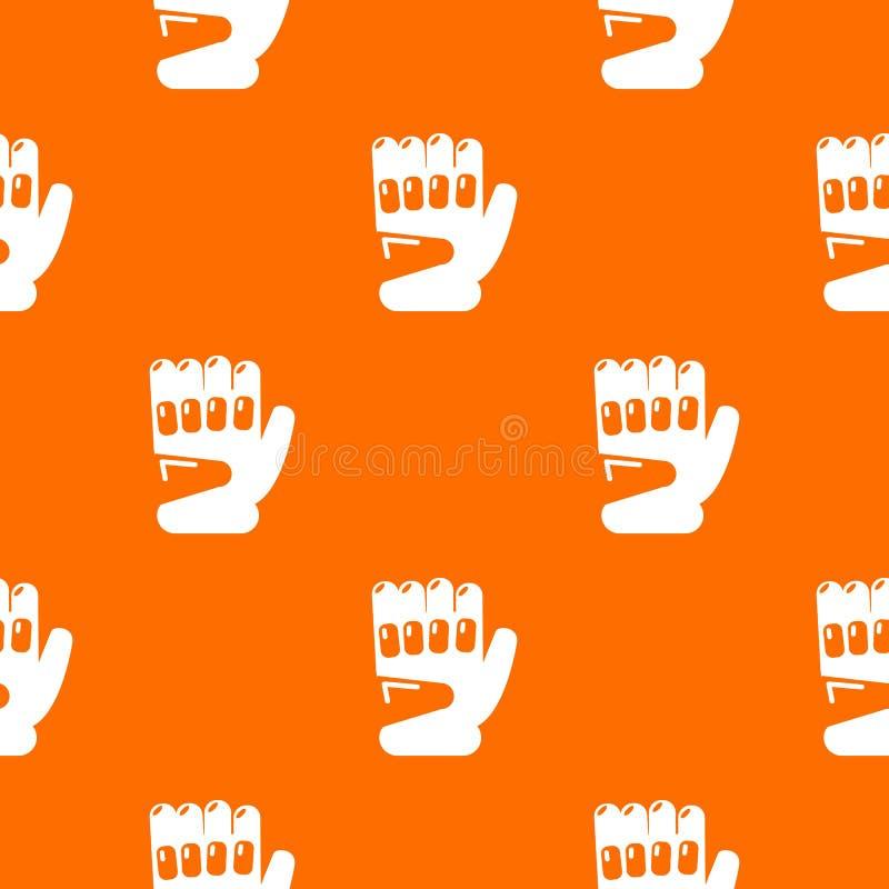 迷彩漆弹运动体育手套样式传染媒介桔子 库存例证