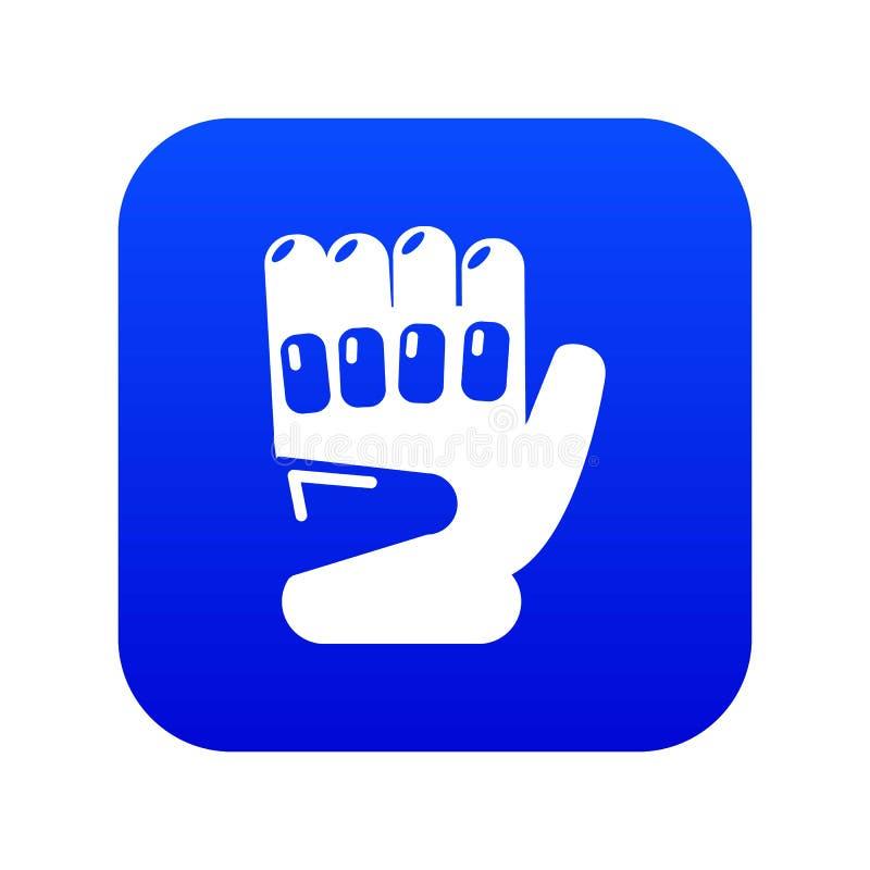 迷彩漆弹运动体育手套象蓝色传染媒介 向量例证