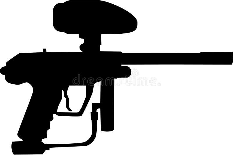 迷彩漆弹运动枪 库存例证