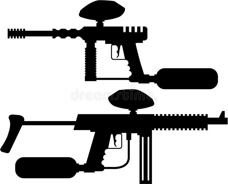 迷彩漆弹运动枪 向量例证