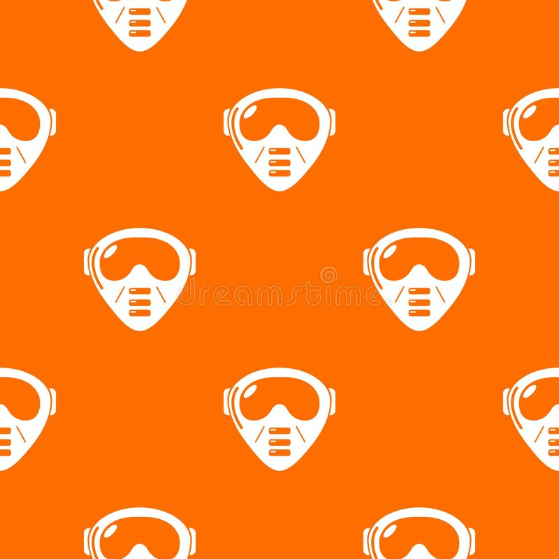 迷彩漆弹运动面具设备样式传染媒介桔子 库存例证
