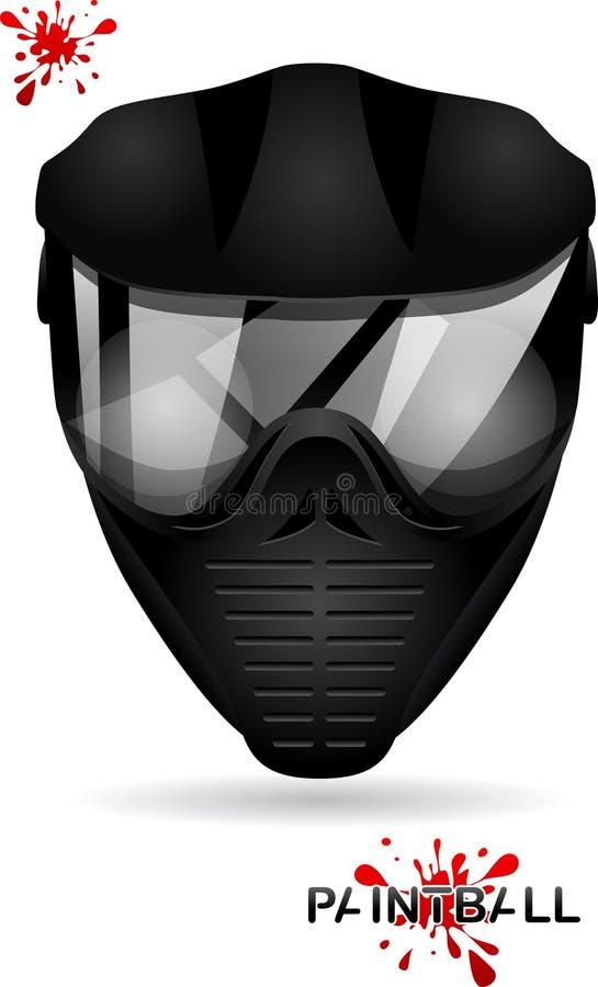 迷彩漆弹运动面具 皇族释放例证