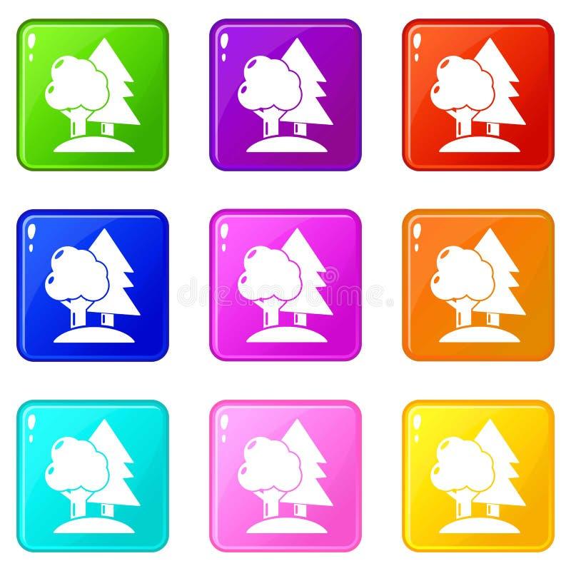 迷彩漆弹运动领域象集合9颜色汇集 皇族释放例证