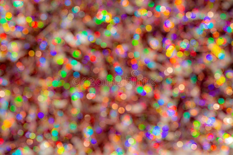 迷离五颜六色的纹理bokeh背景节日和新年 颜色比赛  抽象圣诞节背景 图库摄影