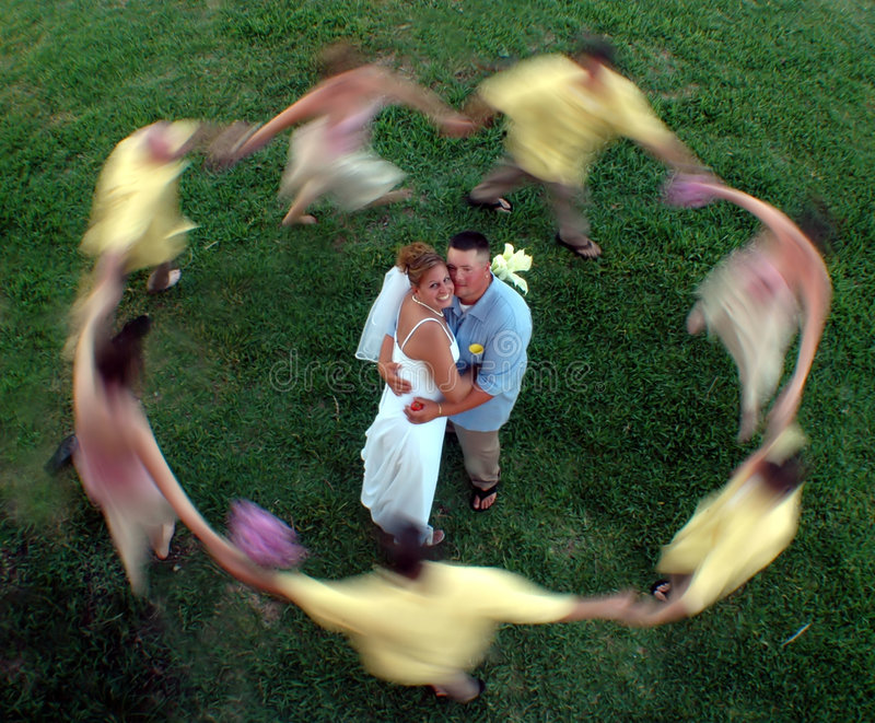 迷离圈子婚礼 库存图片