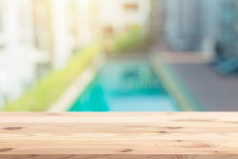 迷离适应游泳池背景 库存图片
