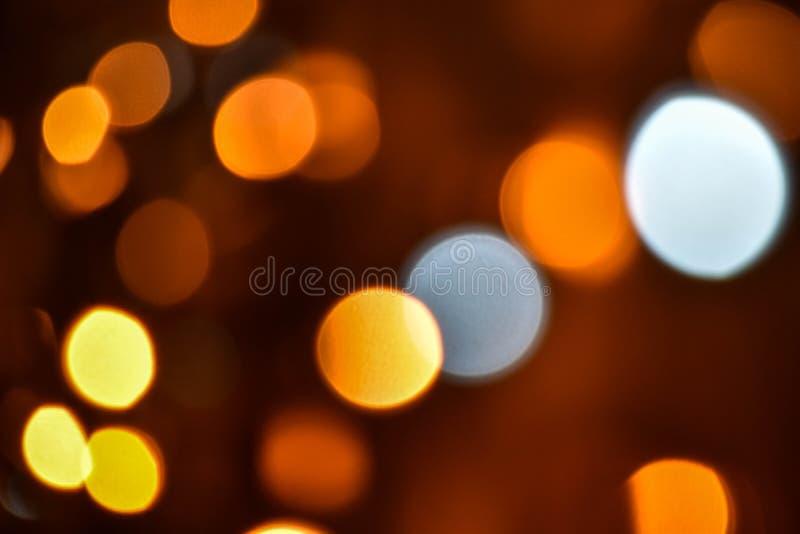迷离bokeh圣诞节enhaced光 库存图片