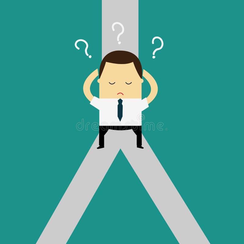 迷茫,身分在交叉路 挑选方式概念 决定企业隐喻 皇族释放例证