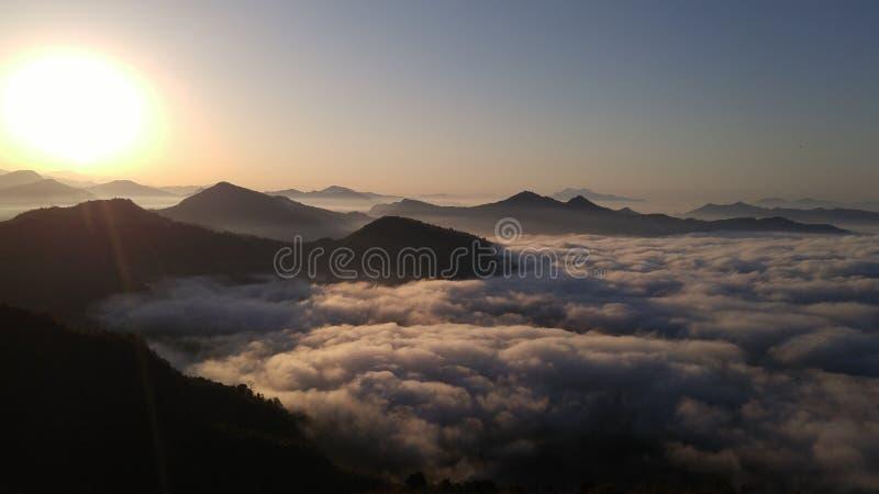 迷雾山脉顶层 免版税库存照片