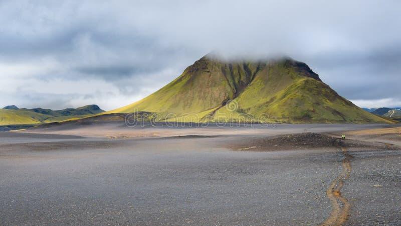 迷雾山脉, Fjallabak自然保护,冰岛 图库摄影