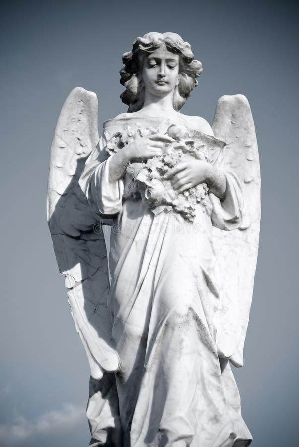 追悼的天使 免版税库存照片