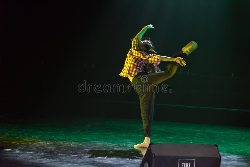 追求梦想丁香舞蹈戏曲 免版税库存照片
