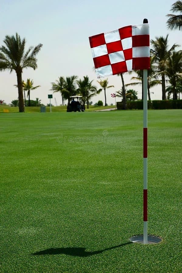 追猎高尔夫球 库存图片