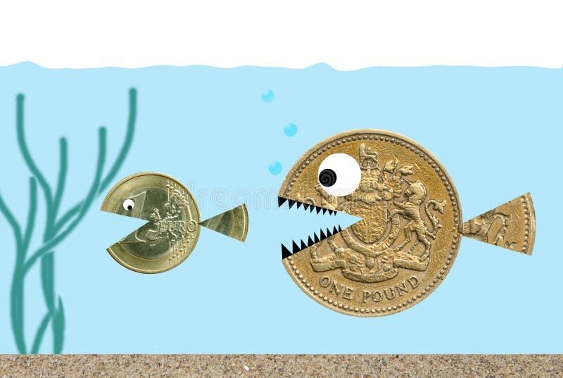 追逐欧洲镑 库存例证