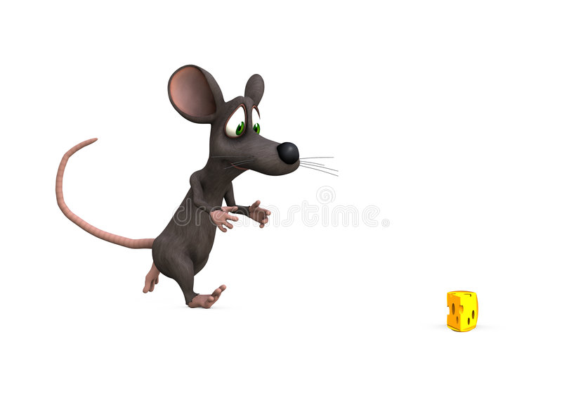 追逐鼠标 向量例证