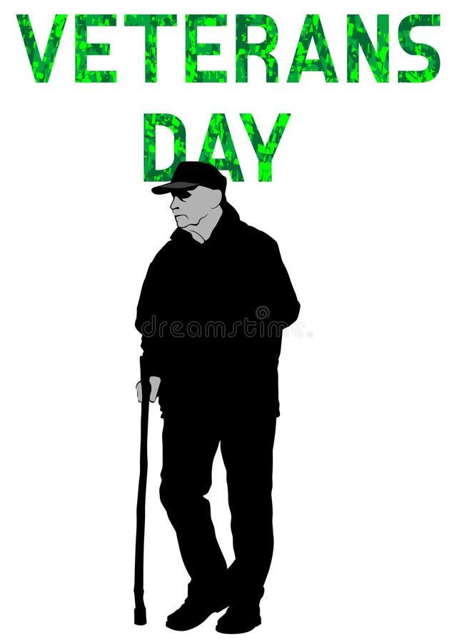 退伍军人日五 向量例证