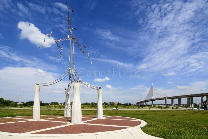 退伍军人的玻璃城市Skyway 库存图片