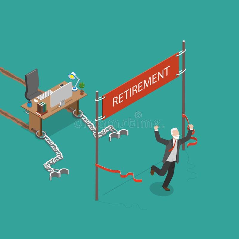 退休传染媒介平的等量例证 向量例证