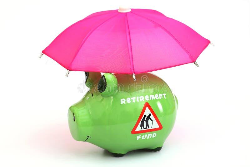 退休储款资金的概念 库存照片