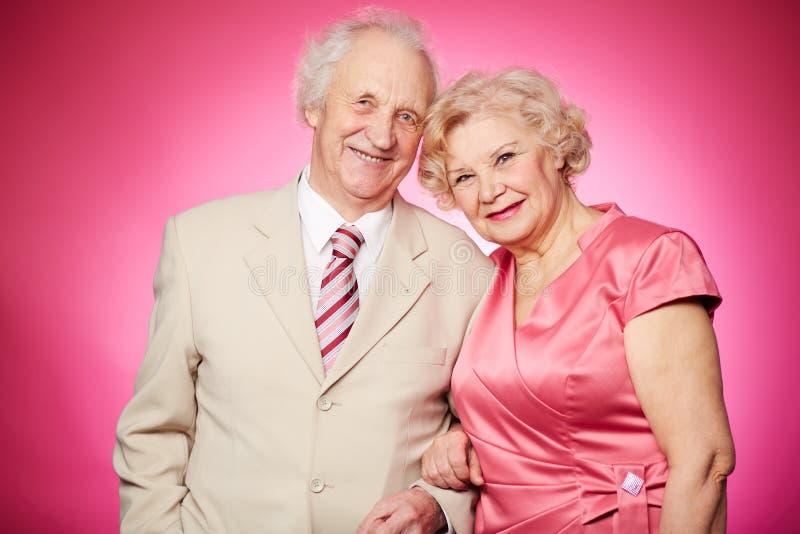退休的夫妇 免版税图库摄影
