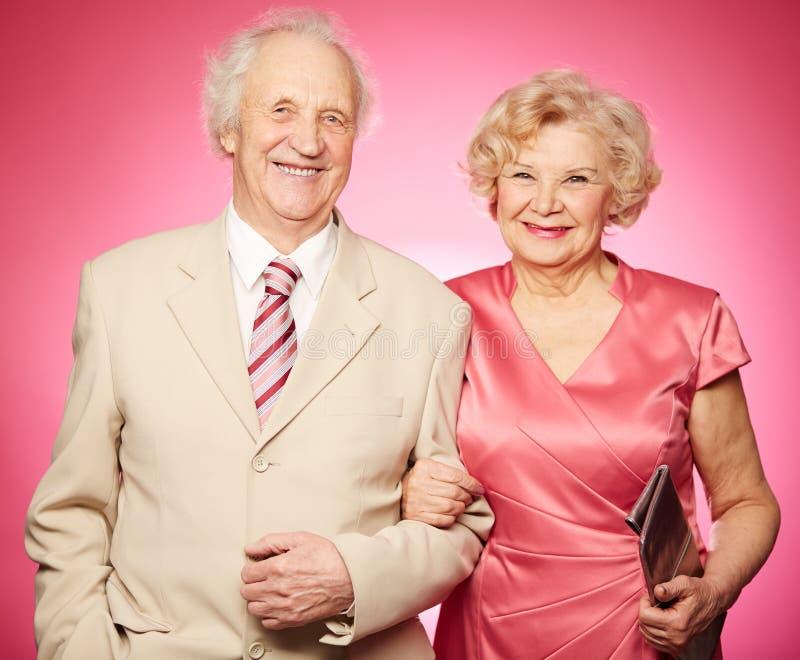 退休的夫妇 图库摄影