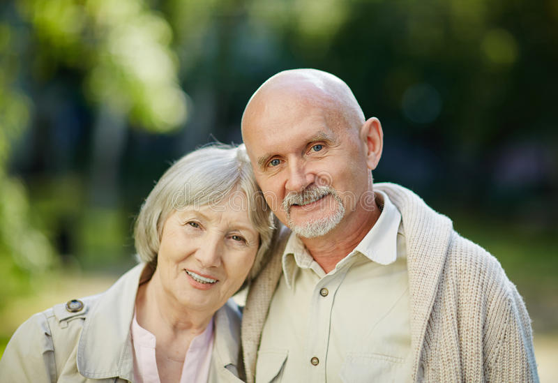 退休的夫妇 库存图片