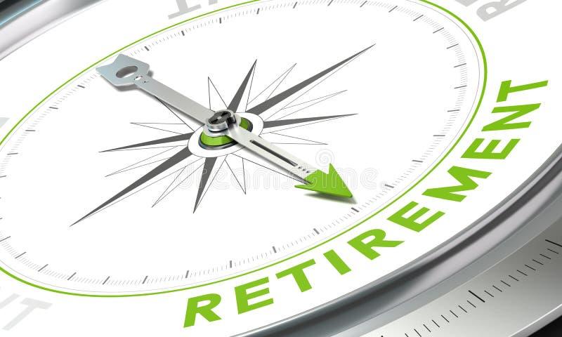 退休计划,概念指南针图象 皇族释放例证