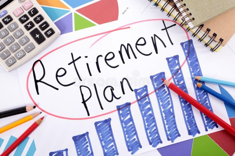 退休计划 库存照片