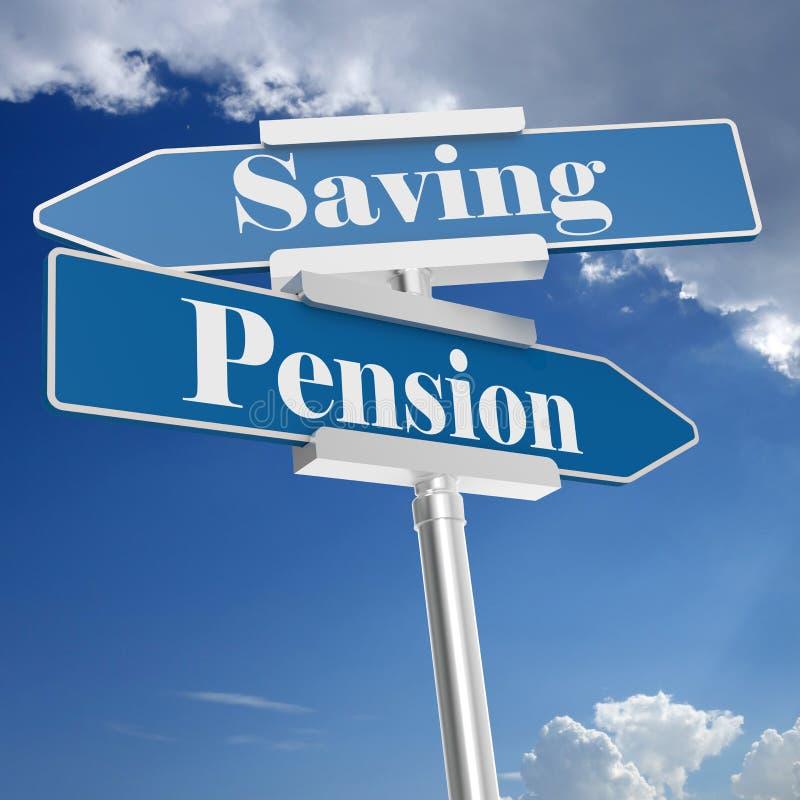 退休金和挽救标志 向量例证