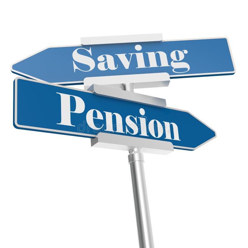 退休金和挽救标志 皇族释放例证