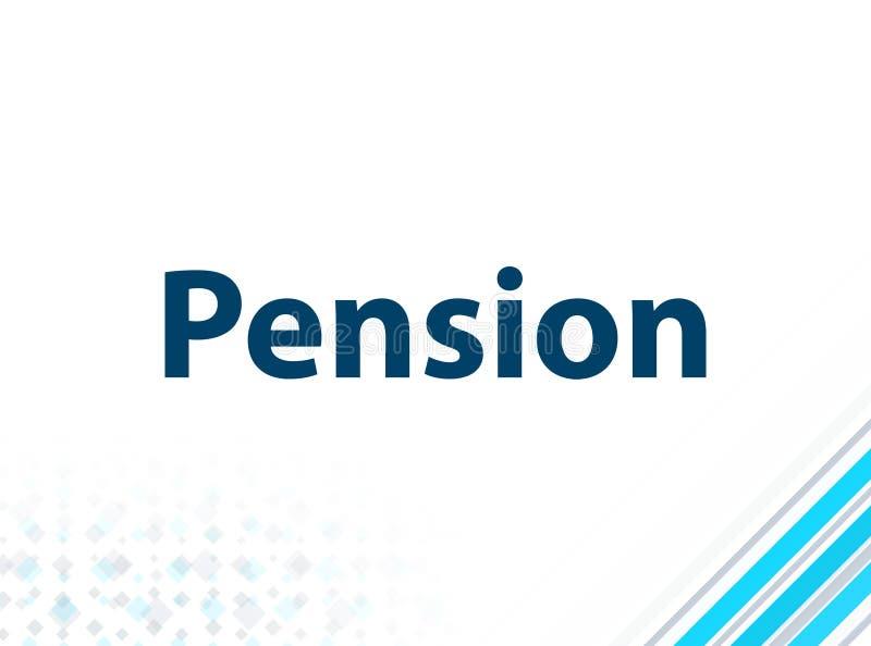 退休金现代平的设计蓝色抽象背景 库存例证