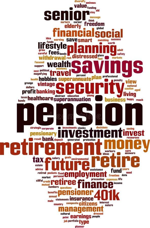 退休金词云彩 向量例证
