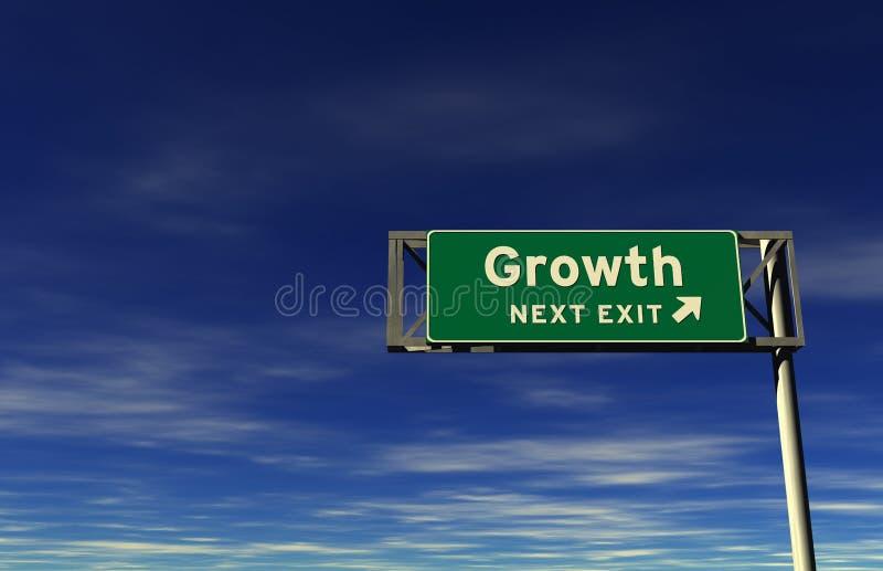 退出高速公路增长符号 库存例证