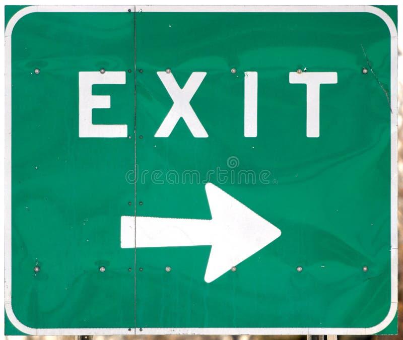退出高速公路符号 免版税库存图片