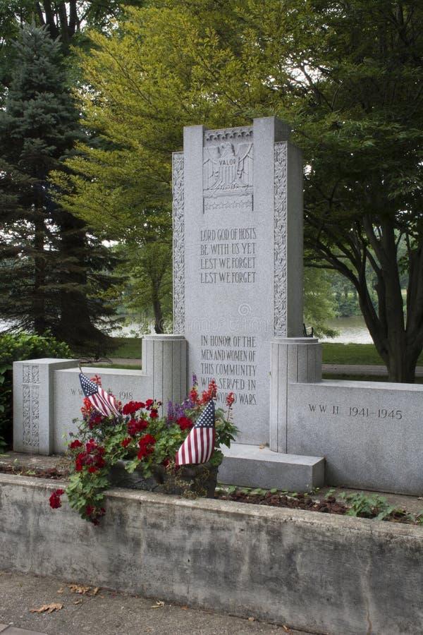 退役军人纪念碑,玛丽埃塔俄亥俄 免版税库存图片
