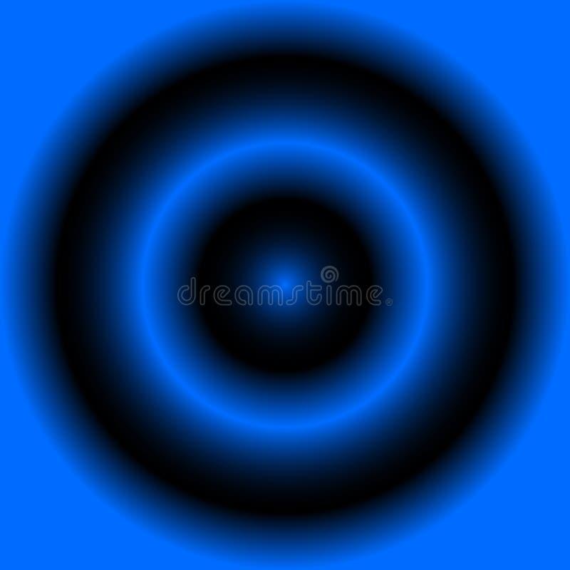 退色的同心圆辐形梯度背景 辐形圈子 库存例证