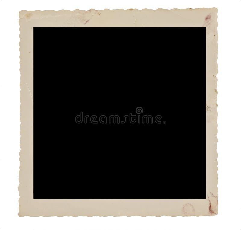 退色的和肮脏的方形的照片边界从五十年代 免版税库存照片