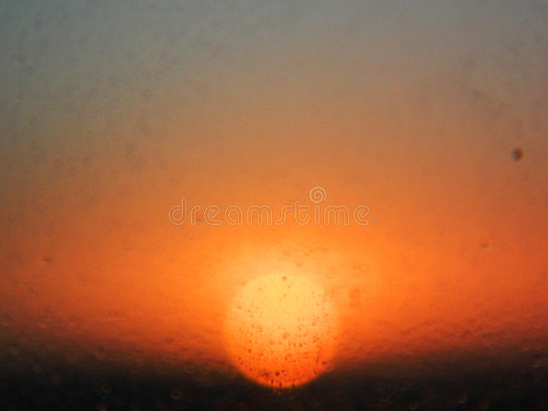 退色的太阳 库存照片