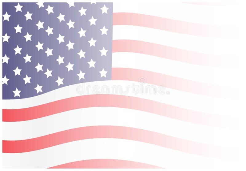 退色的挥动的美国国旗背景 皇族释放例证
