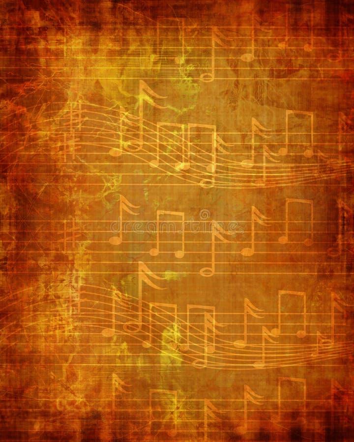 退色的音乐纸张 皇族释放例证