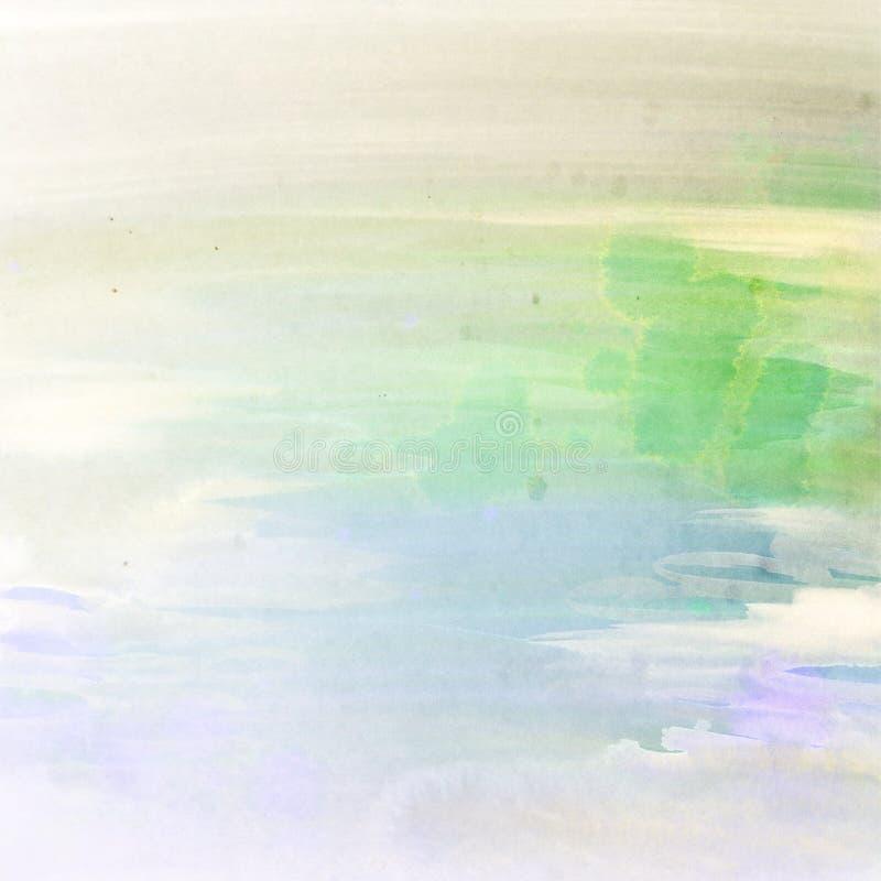 退色的水彩污迹油漆柔和的淡色彩背景 库存照片