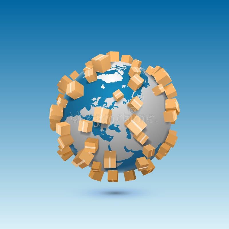 送全世界艺术标志 库存例证