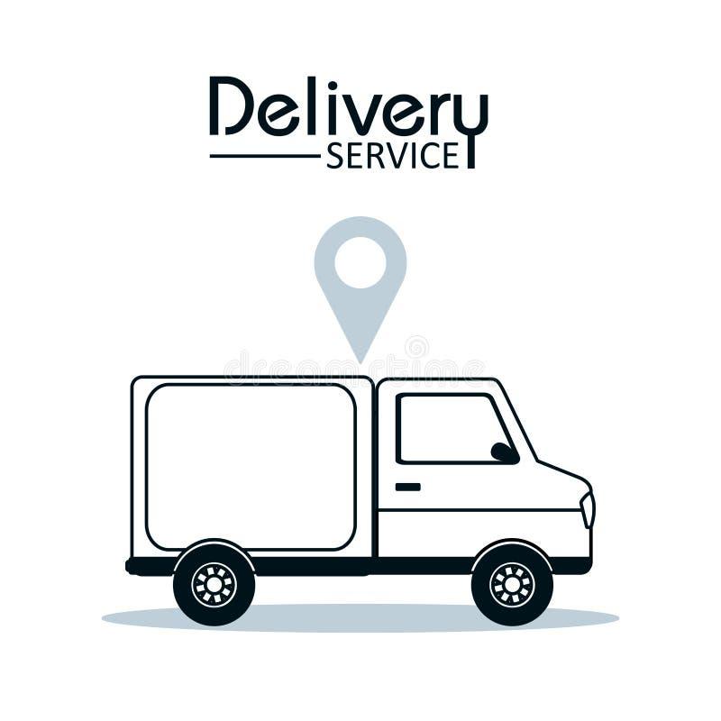 送货业务概念 库存例证